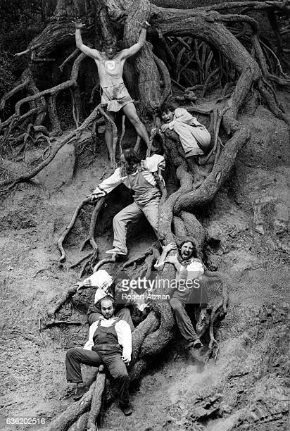 Actors of The New Shakespeare Company play out Puck in the Park Midsummer's Night Dream which was written by William Shakespeare circa August 1974 in...