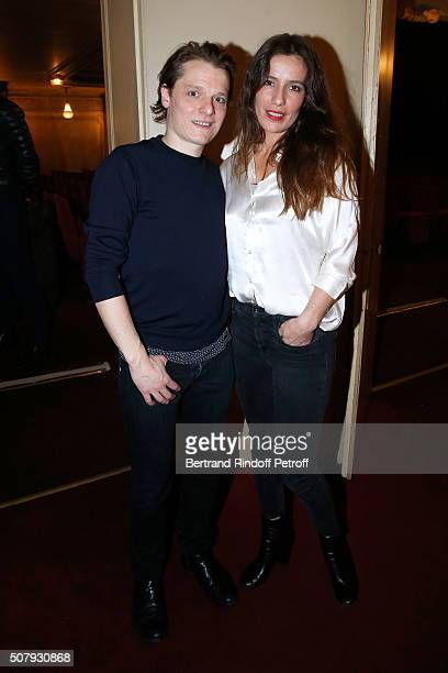 Actors of the Piece Benabar and Zoe Felix attend the Theater Price 2015 of Foundation Diane Lucien Barriere given to the Theater Piece 'Je vous...