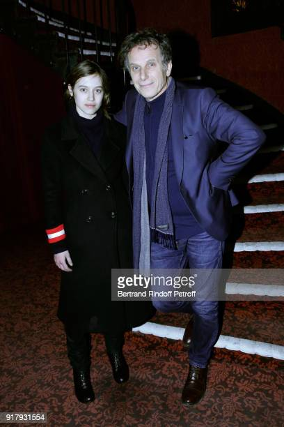 Actors of the Piece Lou de Laage and Charles Berling attend the 'Letters to Nour Lettres a Nour' Theater Play as part of the 'Citizens' Words Paroles...