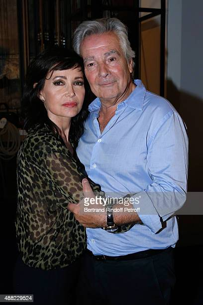 Actors of the Piece Pierre Arditi and his wife Evelyne Bouix attend 'Le Mensonge' Theater Play Held at Theatre Edouard VII on September 14 2015 in...