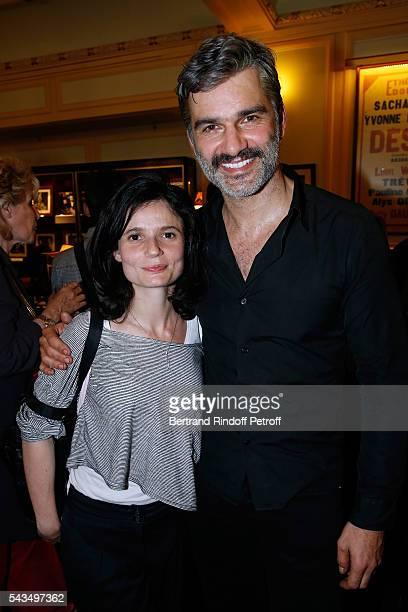 Actors of the piece Rachel Arditi and Francois Vincentelli attend Du vent dans les branches de Sassafras Theater Play Live on France 2 TV Chanel Held...