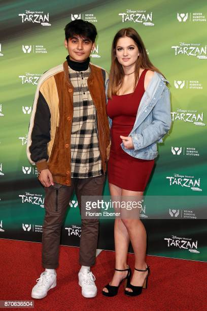 Actors of the series 'Lindenstrasse' Aaron Rufer and Greta Goodworth attend the anniversary celebration of the musical 'Tarzan at Stage Metronom...
