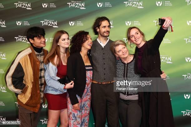 Actors of the series 'Lindenstrasse' Aaron Rufer Greta Goodworth Dunja Dogmani Valentin Schreyer Andrea Spatzek and Cosima Viola attend the...