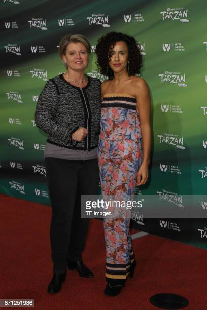 Actors of the series 'Lindenstrasse' Andrea Spatzek and Dunja Dogman attend the anniversary celebration of the musical 'Tarzan at Stage Metronom...