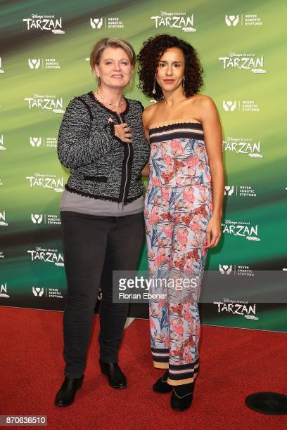 Actors of the series 'Lindenstrasse' Andrea Spatzek and Dunja Dogmani the anniversary celebration of the musical 'Tarzan at Stage Metronom Theater on...