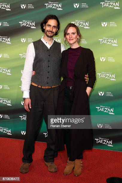 Actors of the series 'Lindenstrasse' Valentin Schreyer and Cosima Viola the anniversary celebration of the musical 'Tarzan at Stage Metronom Theater...