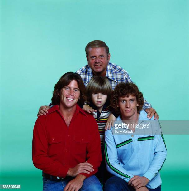 Actors of the television series Eight is Enough Dick Van Patten Grant Goodeve Adam Rich and Willie Aames