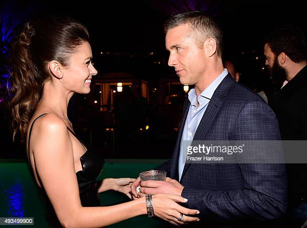 Actors Olga Fonda and Jeff Hephner attend TNT's Agent X screening at The London West Hollywood on October 20 2015 in West Hollywood California...