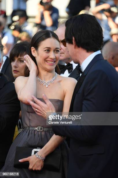 Actors Olga Kurylenko and Adam Driver attend the screening of Closing Ceremony 'The Man Who Killed Don Quixote' during the 71st annual Cannes Film...