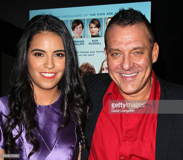 Actors Olga Segura and Tom Sizemore attend the premiere of Image Entertainment's Goats at the Landmark Theater on August 8 2012 in Los Angeles...