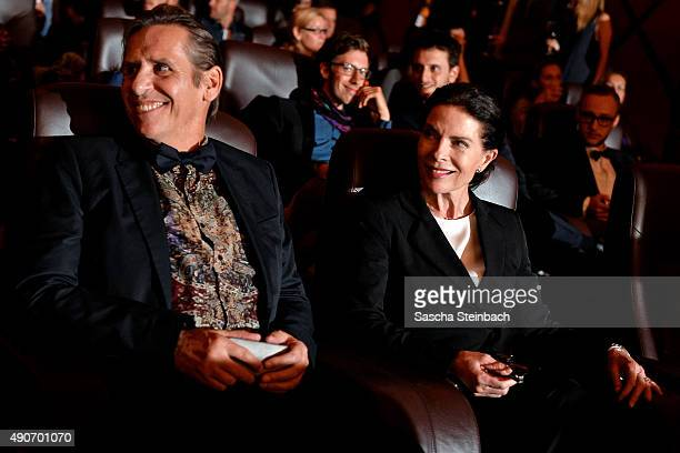 Actors Oliver Marlo and Gudrun Landgrebe attend the TNT Serie's preview screening of 'Weinberg' at Residenz on September 30 2015 in Cologne Germany...