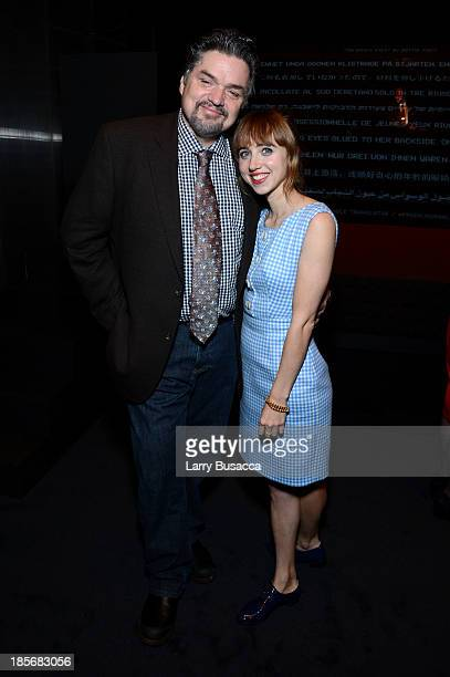 Actors Oliver Platt and Zoe Kazan attend PRADA Journal A Literary Contest In Collaboration With Feltrinelli Editore at the Prada Epicenter Store on...