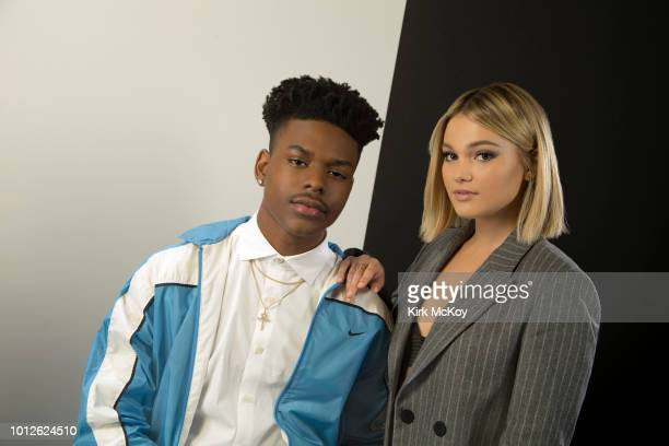 Actors Olivia Holt and Aubrey Joseph are photographed for Los Angeles Times on May 21 2018 in Los Angeles California PUBLISHED IMAGE CREDIT MUST READ...