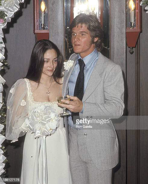 Actors Olivia Hussey and Dean Paul Martin attend their the Wedding Ceremony on April 17 1971 in Las Vegas Nevada