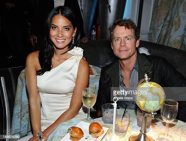 Actors Olivia Munn and Greg Kinnear attends the after party for HBO's New Series 'Newsroom' Los Angeles Premiere at Boulevard3 on June 20 2012 in...