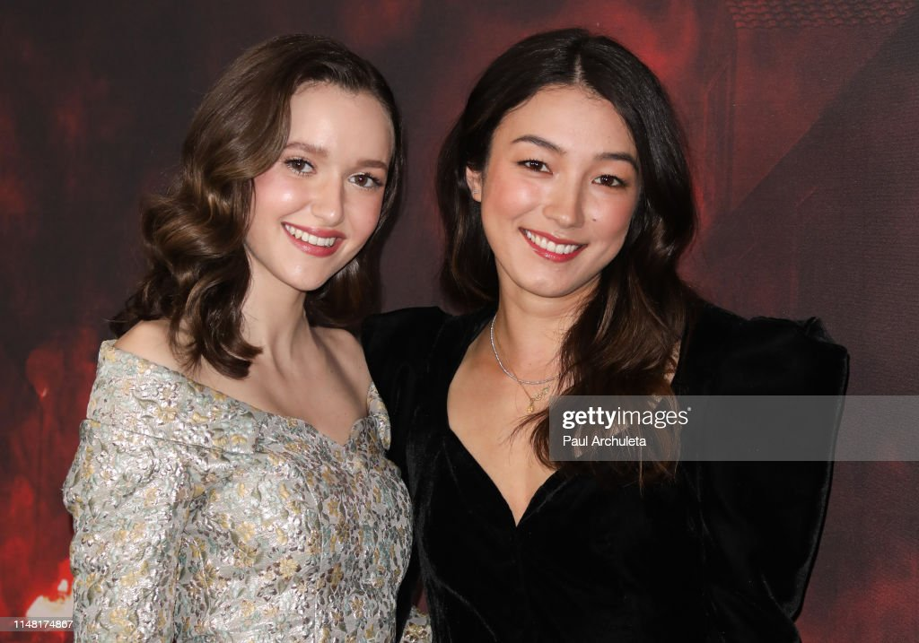 Actors Olivia Nikkanen and Natasha Liu Bordizzo attend the