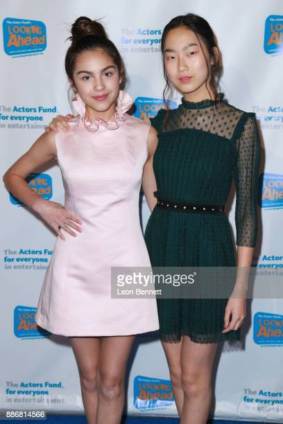 Actors Olivia Rodrigo and Madison Hu attends The Actors Fund's 2017 Looking Ahead Awards Honoring The Youth Cast Of NBC's 'This Is Us' at Taglyan...