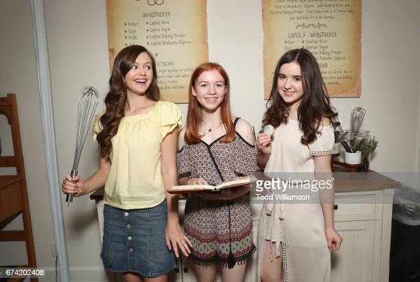 Actors Olivia Sanabia Abby Donnelly and Aubrey K Miller attend Amazon Studios Emmy 'For Your Consideration' event held at The Hollywood Athletic Club...
