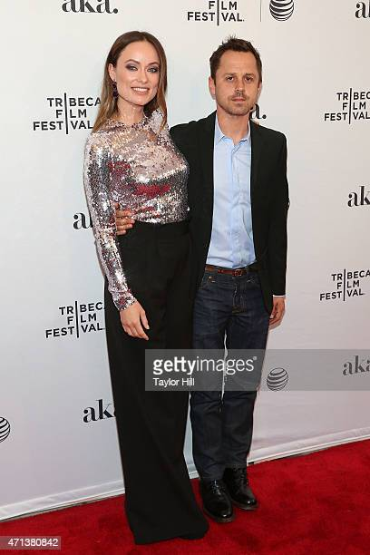 Actors Olivia Wilde and Giovanni Ribisi attends the world premiere of 'Meadowland' during 2015 Tribeca Film Festival at SVA Theater 1 on April 17,...