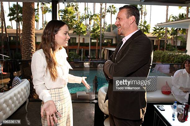 Actors Olivia Wilde and Jason Segel attend the 'Indie Contenders Roundtable presented by The Hollywood Reporter' during AFI FEST 2015 presented by...