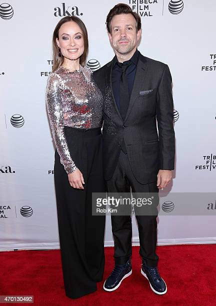 """Actors Olivia Wilde and Jason Sudeikis attend the premiere of """"Meadowland"""" during the 2015 Tribeca Film Festival at the SVA Theater on April 17, 2015..."""