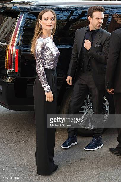"""Actors Olivia Wilde and Jason Sudeikis attend the world premiere of """"Meadowland"""" during 2015 Tribeca Film Festival at SVA Theater 1 on April 17, 2015..."""