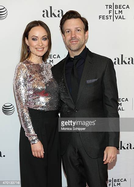 """Actors Olivia Wilde and Jason Sudeikis attend the world premiere narrative of """"Meadowland"""" during the 2015 Tribeca Film Festival at 1 on April 17,..."""