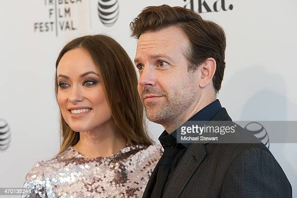 Actors Olivia Wilde and Jason Sudeikis attend the world premiere of 'Meadowland' during 2015 Tribeca Film Festival at SVA Theater 1 on April 17 2015...
