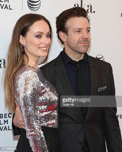 Actors Olivia Wilde and Jason Sudeikis attend the world premiere of 'Meadowland' during 2015 Tribeca Film Festival at SVA Theater 1 on April 17, 2015...