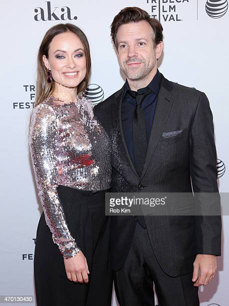 """Actors Olivia Wilde and Jason Sudeikis attends the premiere of """"Meadowland"""" during the 2015 Tribeca Film Festival at the SVA Theater on April 17,..."""