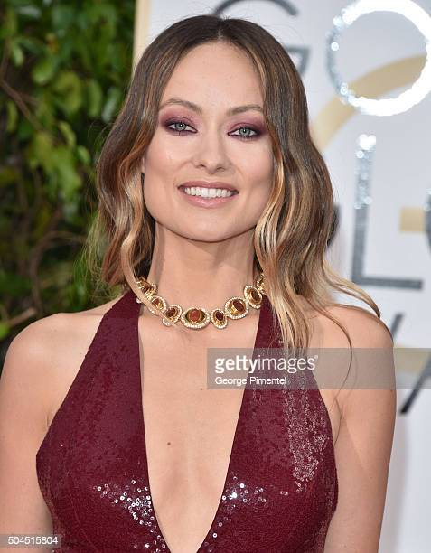 Actors Olivia Wilde attends the 73rd Annual Golden Globe Awards held at the Beverly Hilton Hotel on January 10 2016 in Beverly Hills California