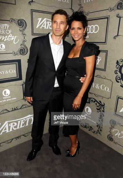 Actors Olivier Martinez and Halle Berry arrive at Variety's 4th Annual Power of Women Event Presented by Lifetime at the Beverly Wilshire Four...