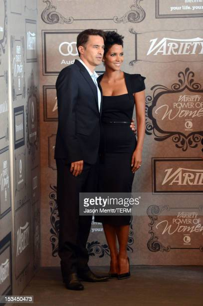 Actors Olivier Martinez and Halle Berry arrive at Variety's 4th Annual Power of Women Event Presented by Lifetimeat the Beverly Wilshire Four Seasons...
