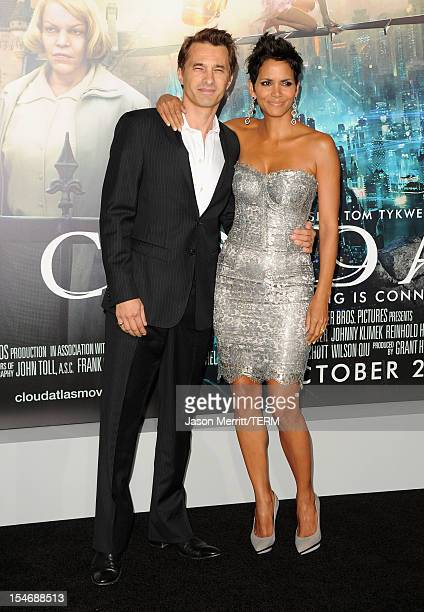 Actors Olivier Martinez and Halle Berry arrive at Warner Bros Pictures' Cloud Atlas premiere at Grauman's Chinese Theatre on October 24 2012 in...