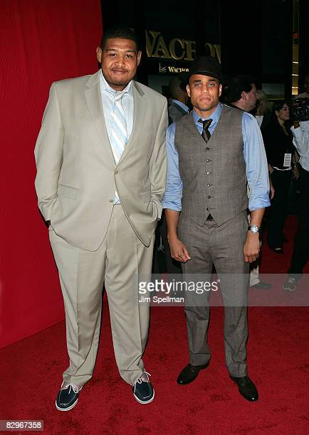 Actors Omar Benson Miller and Michael Ealy attends the premiere of Miracle at St Anna at Ziegfeld Theatre on September 22 2008 in New York City