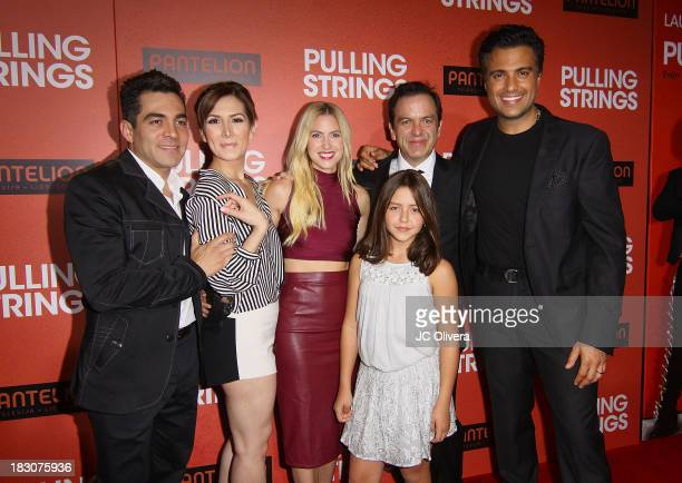 Actors Omar Chaparro, Aurora Papile, Laura Ramsey, Filmmaker Pitipol Ybarra and Actor Jaime Camil attend Los Angeles Premiere of 'Pulling Strings' at...