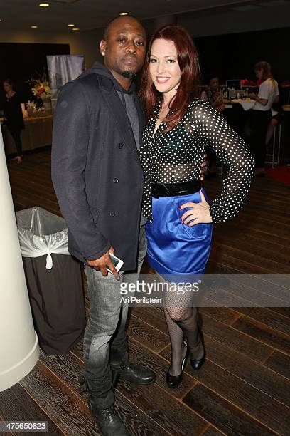 Actors Omar Epps and Erin Cummings attend Kari Feinstein's PreAcademy Awards Style Lounge at the Andaz West Hollywood on February 28 2014 in Los...