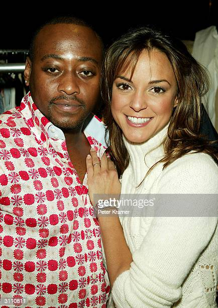 Actors Omar Epps and Eva la Rue attend the Tommy Hilfiger H Collection fashion show on March 18, 2004 at Macy's Herald Square, in New York City.