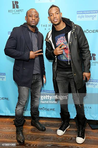 Actors Omar Epps and Marlon Wayans attend Kari Feinstein's PreAcademy Awards Style Lounge at the Andaz West Hollywood on February 28 2014 in Los...