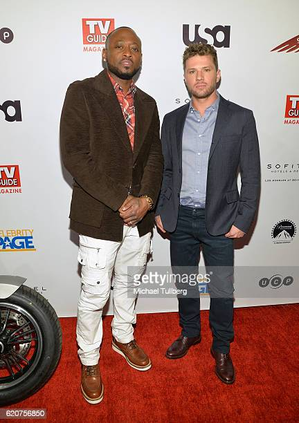 Actors Omar Epps and Ryan Phillippe attend TV Guide Magazine And USA Network's celebration of USA's 'Shooter' at Sofitel Hotel on November 2 2016 in...