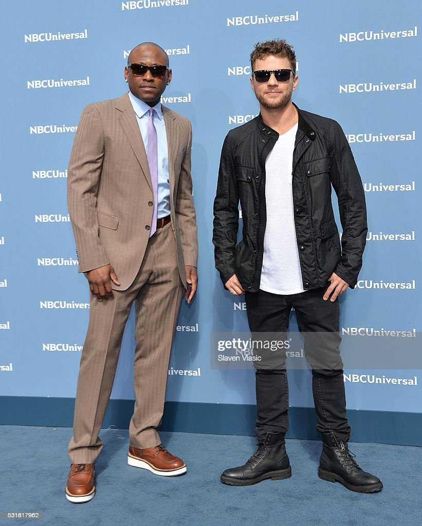 Actors Omar Epps (L) and Ryan Phillippe attends the NBCUniversal 2016 Upfront Presentation on May 16, 2016 in New York, New York.