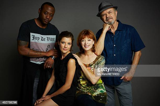 Actors Omar Epps Devin Kelley Frances Fisher and Kurtwood Smith pose for a portrait at the Getty Images Portrait Studio powered by Samsung Galaxy at...