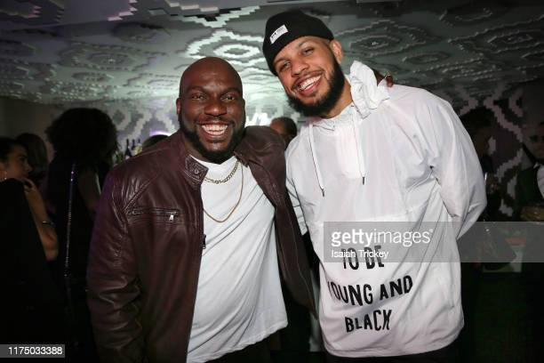 Actors Omar J. Dorsey and Sarunas Jackson attend The B.L.A.C.K Ball during the 2019 Toronto International Film Festival at TIFF Bell Lightbox on...