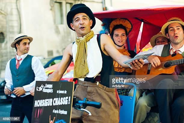 Actors on a street of Avignon