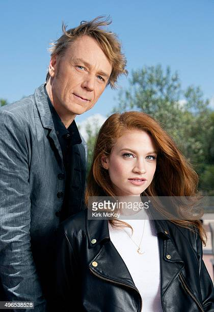 Actors on Starz's 'Flesh and Bone' Ben Daniels and Sarah Hay are photographed for Los Angeles Times on July 30 2015 in Los Angeles California...