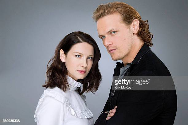 Actors on STARZ'z 'Outlander' Caitriona Balfe Sam Heughan is photographed for Los Angeles Times on June 6 2016 in Los Angeles California PUBLISHED...