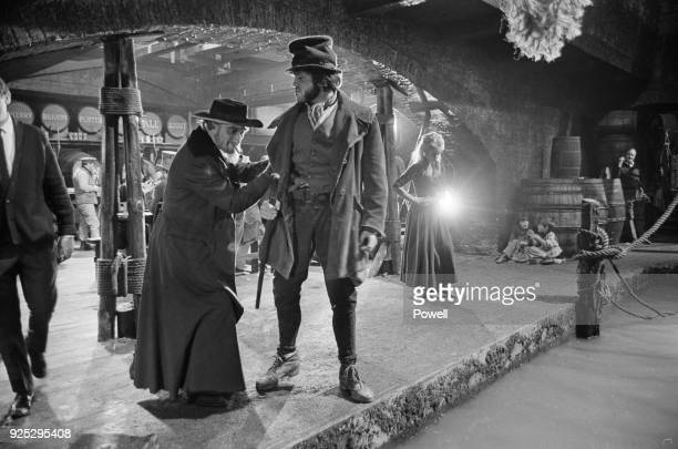 Actors on the set of musical drama film 'Oliver' at Shepperton Studios UK 27th April 1968