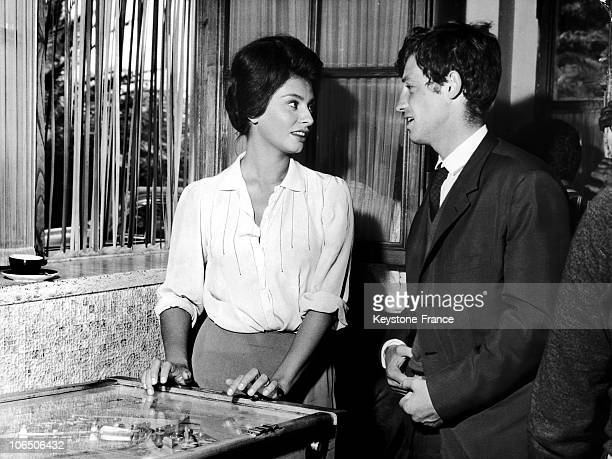 Actors On The Shooting Of Two Women Playing Pinball