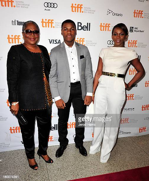 Actors Onyeka Onwenu John Boyega and Genevieve Nnaji arrive at the Half Of A Yellow Sun Premiere during the 2013 Toronto International Film Festival...