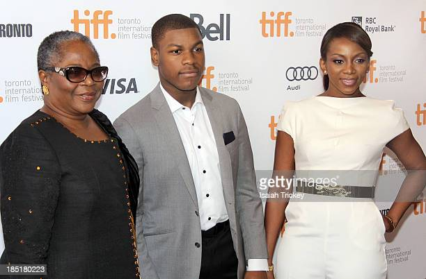 Actors Onyeka Onwenu, John Boyega and Genevieve Nnaji arrive at the 'Half Of A Yellow Sun' Premiere during the 2013 Toronto International Film...